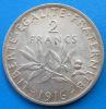 2 francs semeuse argent 1916 cote SUP 8€