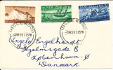 New Zealand FDC 2-3-1959 Marlborough Centennia Lcomplete Set Of 3 With Cachet Sent To Denmark - FDC