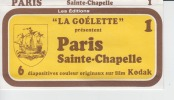 Paris Sainte Chapelle - La Goelette - 110 X 60 Mm - Vieux Papiers