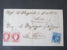 Österreich Levante 1871 Mischfrankatur Griechenland 20L. Waagerechtes Paar Nr. 3I Katalogwert Mindestens 700€ - Levante-Marken