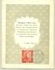 België Belgique - 1949 - 3 Fr 100 Jaar Belgische Postzegels Op Menukaart Voor Banket Postzegeltentoonstelling - Lettres & Documents