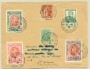 België Belgique - 1915 - 5x Red Cross Stamp, Belgium + France Cancelled Le Havre (special) On R-cover - 1914-1915 Rode Kruis