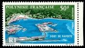 POLYNESIE 1966 - Yv. PA 20 ** TB Bdf  Cote= 21,00 EUR - Port De Papeete ..Réf.POL22628 - Poste Aérienne