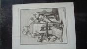 """Gravure Vers 1800 Dessin: Schenau  Graveur: H. Guttenberg  à Paris Chez Dennel  """"Optique Renomée"""" - Prenten & Gravure"""