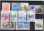 MONACO Année 1986 - 11 Timbres Oblitérés TB N° 1510 1511 1512 1515 1517 1518 1521 1527 1533 1548 1556 Cote 13,75 Euros - Used Stamps