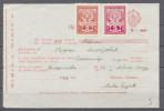 Yugoslavia 1948. Income Tax,  Administrative Stamp, Revenue, Tax Stamp, Coat Of Arms, Bill, Document, 2 & 5d - 1945-1992 República Federal Socialista De Yugoslavia