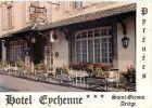 09  SAINT GIRONS  HOTEL EYCHENNE  PAUL BORDEAU CARTE COMMERCIALE DEPLIANTE CARTE SEMI MODERNE 1970/1990 - Saint Girons