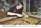 CPM BOURSE DE FIGEAC LOT M LEBRET PIERRE ARTISAN VERRIER SALON COLLECTIONNEURS 2002 - Bourses & Salons De Collections