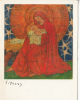 E. Yoors Artist Signed Religion Vierge Madonna Fantasy Fantaisie Greeting Card Not Postcard - Ilustradores & Fotógrafos