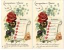 CORRESPONDANCE D AMOUR   DEMANDES REPONSES  -  2 CARTES ANCIENNES - Koppels