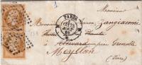 LAC 1860. PARIS B.  BARON DE ZANGIACOMI. Yv 13 /  3946 - Poststempel (Briefe)