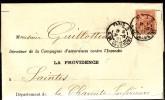FRANCE 1900  -   Y&T  117 -  Mouchon 15 C Orange Sur Lettre De Saintes à Paris - 1900-02 Mouchon