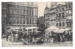 Bruxelles Grand Place Marche Aux Fleurs Brussels Vintage Belgium Postcard - Other