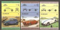St. Vincent 1985 Mi# 798-803 U ** MNH - Imperf., 3 Pairs - Classic Cars (III) - Cars