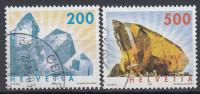 Zwitserland - Mineralen/Edelstenen - Bergkristall/Titanit - Gebruikt/gebraucht/used - M 1808IA-1809IA - Mineralen