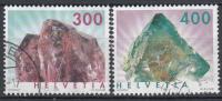 Zwitserland - Mineralen/Edelstenen - Rutilquarz/Flourit - Gebruikt/gebraucht/used - M 1844-1845 - Mineralen