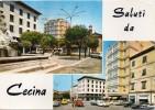 Toscana-livorno-saluti Da Cecina Vedute Anni/60 - Italia