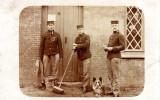 Carte Photo Et De L Armée De La Famille BLAIRON De La Rue Du Charbonnage En 1919 A Anderlues - Anderlues