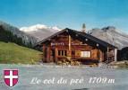 Le COL Du PRE (alt. 1709 M) : La Buvette. Panorama Sur Le Roche Du Vent, Le Mont Blanc Et Les Rochers Des Enclaves - France