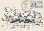 Carte Locale  1er  jour  JOURNEE  du  TIMBRE    LE  HAVRE   1960