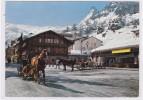 Zermatt , Place De La Gare Et Le Cervin, Traineaux - VS Valais