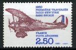 FRANCE 1980 /  PA 53 1° TRAVERSEE PARIS - NEW YORK  Neuf** - Poste Aérienne
