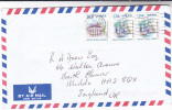 1999 Mail HONG KONG COVER 50c 2x 1.30  Stamps To GB China - 1997-... Chinese Admnistrative Region