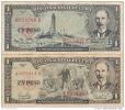 1959 and 1957 lot of 2 bills   SCARCE. 1 PESO  BANCO NACIONAL !