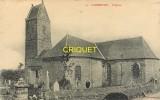 Cpa 50 Cambernon, L'Eglise, Homme Dans Le Cimetière, Carte Pas Courante - France