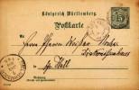 Entier Postal - Entero Postal - Ganzsache - Postal Stationary - Intero Postal - Chiffre 5 Pf Vert - FRANCO DE PORT - Wuerttemberg