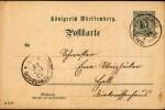 Entier Postal - Entero Postal - Ganzsache - Postal Stationary - Intero Postal - Chiffre 5 Pf Vert - FRANCO DE PORT - Wurtemberg