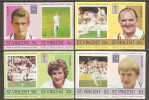 St. Vincent 1985 Mi# 778-785 U ** MNH - Imperf., 4 Pairs - Cricket Players - Cricket