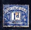 Y558 - GRAN BRETAGNA 1955 , Segnatasse  1  Penny Unificato  N. 44   Usato . - Tasse