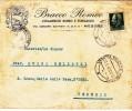 VENEZIA MESTRE STAZIONE 1944 - AFFRANC. REPUBBLICA SOCIALE / BUSTA PUBBLICITARIA PER IL DISTRETTO TARIFFA C. 25    SX131 - 4. 1944-45 Repubblica Sociale