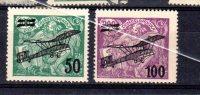 1922 Surchargé Y  7 * -8 * - Poste Aérienne