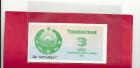-- BILLET NON IDENTIFIE ..  3 ??? ....  PAYS ???--- - Ouzbékistan