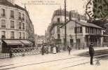 92 NANTERRE  La Gare Le Passage à Niveau Et Rue Du Chemin De Fer - Nanterre