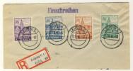 SBZ West Sachsen Mi No. 162 - 165 A gestempelt used Briefausschnitt