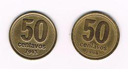 -0-   ARGENTINA  2 X 50  CENTAVOS  1993/94 - Argentine