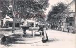 (30) Uzès - Boulevard Gambetta - Fontaine - 2 SCANS - Uzès