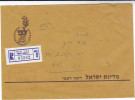 1985 REGISTERED Beer Sheva ISRAEL  FORCES COVER Military Army METER Stamps Zahal - Israel
