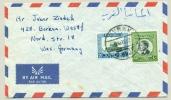 Jordan - 1968 - 2 Stamps On Cover To Borken / West Germany - Jordanië