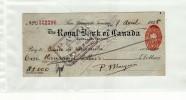SAN FERNANDO TRINIDAD ET TOBAGO - ROYAL BANK OF CANADA - BANQUE VENEZUELA - CHEQUE DE 1000 DOLLARS - CACHETS - Chèques & Chèques De Voyage