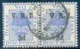 "Orange Free State 1900. 3d Ultramarine THIN-THICK ""V"" Pair. SACC 63/73, SG 117/128. - Sud Africa (...-1961)"