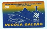 LSJP BRAZIL PHONECARD AVIATION  INTERNATIONAL AIRPORT RIO DE JANEIRO GALEAO ANTONIO CARLOS JOBIM TELEMAR - Vliegtuigen