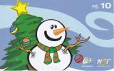 TARJETA DE BRASIL DE NAVIDAD (CHRISTMAS) ARBOL DE NAVIDAD Y MUÑECO DE NIEVE - Navidad
