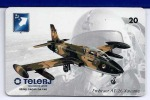 LSJP BRAZIL PHONE CARDS AVIATION  FIGHTER EMBRAER AT-26 XAVANTE TELERJ - Avions