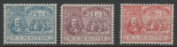 STAMPS - PAYS-BAS 1907  - Y&T N°  73 *  ,74 ** , 75 **   - 37 € - 1891-1948 (Wilhelmine)