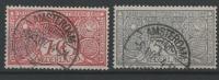 STAMPS - PAYS-BAS 1906  Obl. - Y&T N°  70,72  -