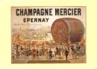 Champagne MERCIER Arrivée Du Célèbre Foudre Mercier à L'expos Universelle De Paris En 1889 - Epernay